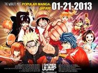 picture of Weekly Shonen Jump, the manga magazine that features One Piece and Naruto, has announced that it will begin distributing a digital English version of its publication on Jan. 21. 1