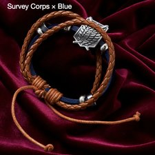 Attack on Titan PU Leather Bracelet