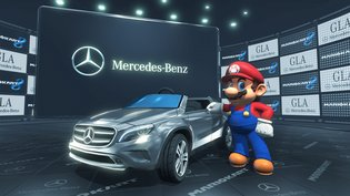 "A Kart Themed After Mercedes-Benz's ""New GLA Class"" Appears in *Mario Kart 8*, Tournament Using the GLA Kart to Be Held This Autumn"