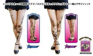 JoJo's Bizarre Adventure Tattoo Stockings Round 2