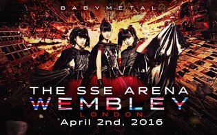 Announcement From the FOX GOD! BABYMETAL to Headline The SSE Arena, Wembley in 2016!