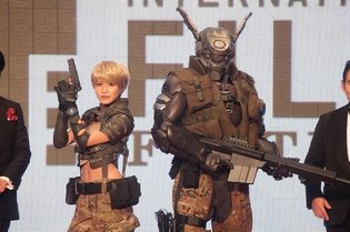 Deunan and Briareos from CG Anime *Appleseed Alpha* Appear on Red Carpet at Tokyo International Film Festival