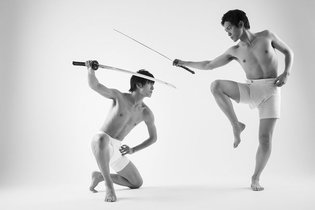 Hot Guys Sword Fighting in Their Underwear! Brand New Pose Collection 'Katana Danshi'