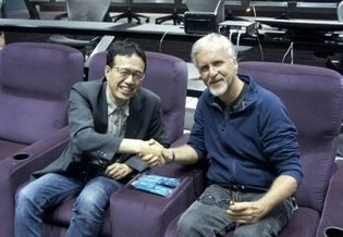 Director Shinji Aramaki Meets James Cameron for the First Time During 3D Screening of *Captain Harlock*