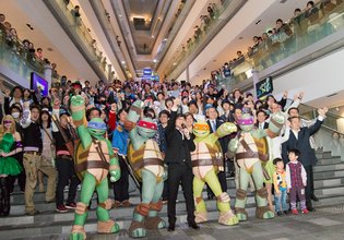 A Party is Held in Japan to Celebrate the Broadcast of TV Anime *Teenage Mutant Ninja Turtles*
