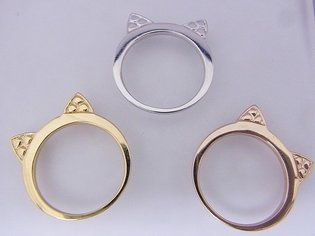 18K and Platinum?! Cute and Gorgeous Nekomimi Jewelry: Mimi Ring Premium