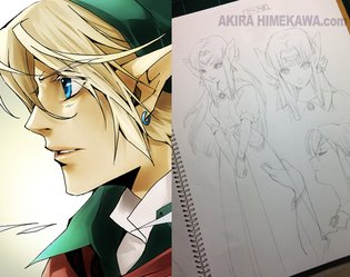 Manga Artist Akira Himekawa Teaches How to Draw Manga with Masterpiece *The Legend of Zelda*!