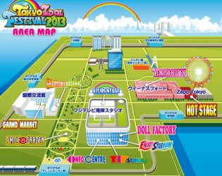 Tokyo Idol Festival 2013 Timetable and Area Map Annoucement!