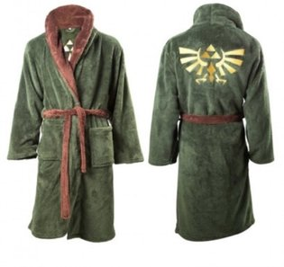 A Legend of Zelda Bathrobe with Hyrule Royal Crest to Soothe Soldiers Returning from the Adventures of Everyday Life