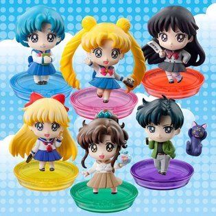 "Puchi-Chara! *Sailor Moon* Series ""Puchi and School Life! Edition"" Release Announced, Six Figures in Total Include Usagi in Her School Uniform"