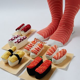 Booming Worldwide? Socks that Look Just Like Sushi!