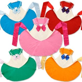 Of Course Chibi Moon is Pink! Five New Versions of *Sailor Moon* Sailor Aprons Go on Sale