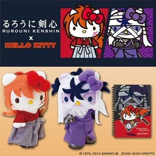 Hello Kitty Finally Comes to Hit Movie *Rurouni Kenshin*, Transforms into Kenshin and Shishio