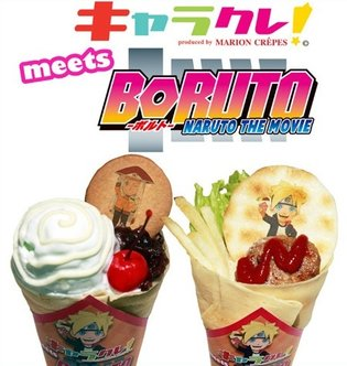 Naruto, Boruto, and Others on Crepes for a Limited Time! Inside, Sakura Denbu in Hamburger!?