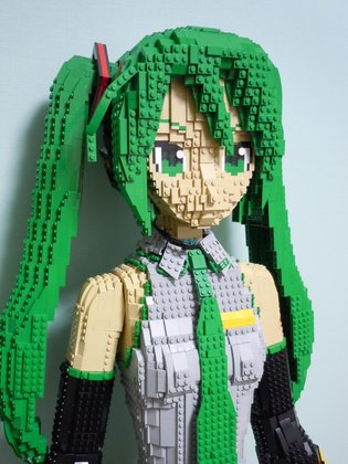 Completed in Six Months! The Birth of the Life-Size Lego Miku!