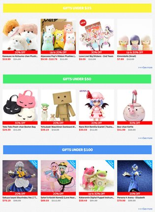 Tokyo Otaku Mode Premium Shop Double Sale Offer! Maximum 80% Off + Free Shipping!!
