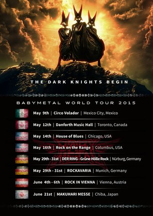 Schedule Announced for First Leg of Babymetal's Second World Tour