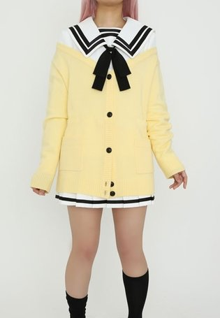 White Sailor Uniform & Cardigan for Summer Cosplay Events? *Kimi to Kanojo to Kanojo no Koi* School Uniform to Release