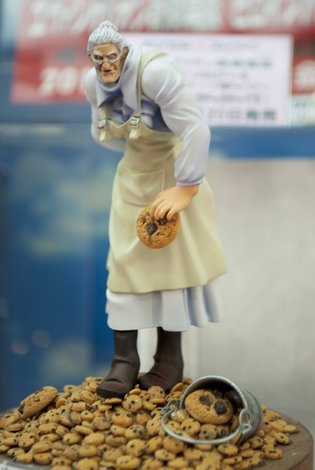 Grandma from *Cookie Clicker* Descends! Sample Displayed at Kaiyodo Hobby Lobby Tokyo