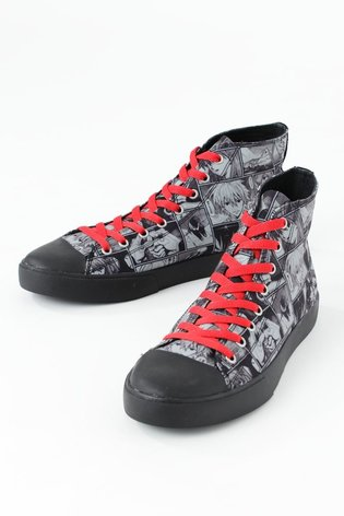 Release Confirmed for Limited Sneakers that Show Collage of Famous Scenes from Manga *Neon Genesis Evangelion*