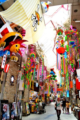 Asagaya Tanabata Festival Features Gigantic Paper Mache of Popular Anime Characters