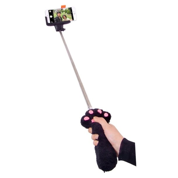 press the paw to snap a cute photo with these new fluffy paw selfie sticks. Black Bedroom Furniture Sets. Home Design Ideas