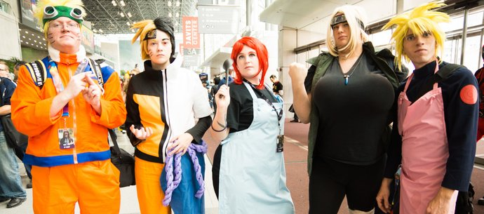 picture of Cosplayers we just met at NYCC DAY1!