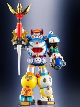 Fujiko F. Fujio's Popular Characters Doraemon and Korosuke Become Transformable Robot Chogokin