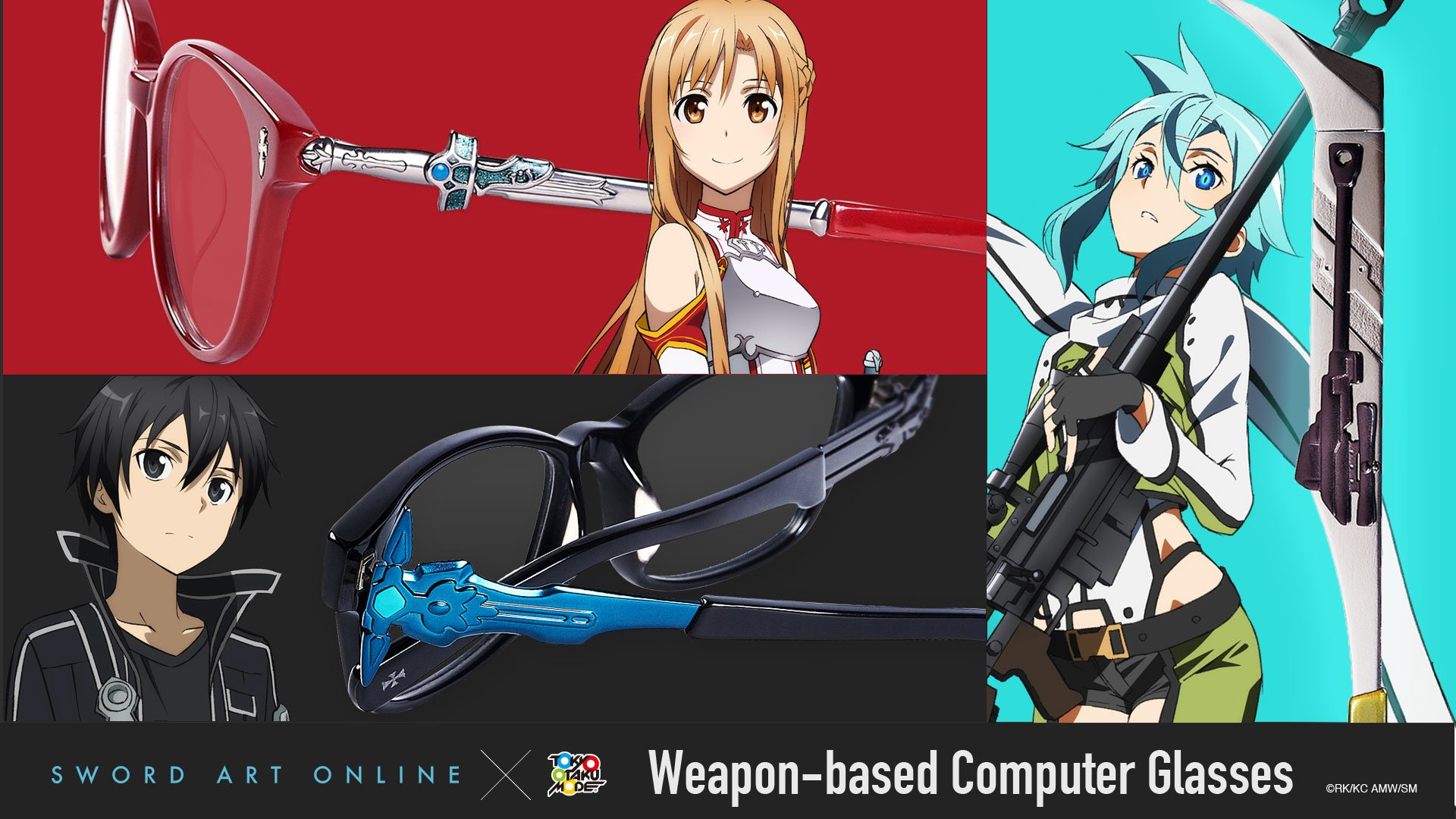 Sword Art Online Weapon-Based Computer Glasses