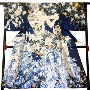 Baron Yoshimoto & Katsuya Terada Bateira Yukata Kimono w/ Art Board