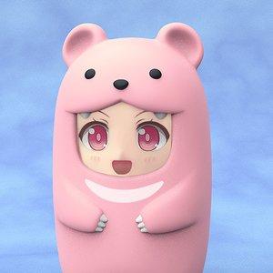 Nendoroid More Pink Bear Face Parts Case