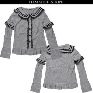ACDC RAG 2-Way Sailor Blouse Stripe