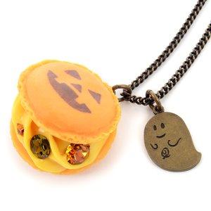 Q-pot. Parlor Jack-o'-lantern Macaron Necklace