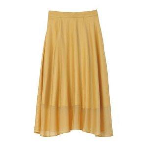 Honey Salon Organdy Flared Skirt Mustard [Pre-order]
