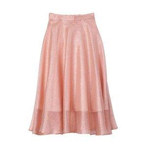 Honey Salon Organdy Flared Skirt Pink Lamé [Pre-order]