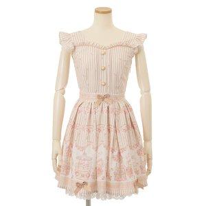LIZ LISA Merry-Go-Round Music Box Jumper Skirt Beige