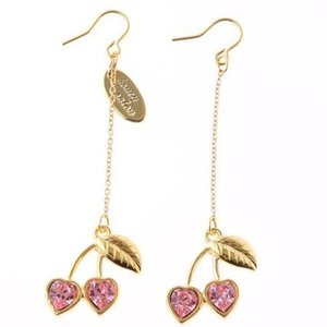 Honey Salon Honey Cherry Earrings Pink