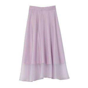 Honey Salon Organdy Flared Skirt Lavender [Pre-order]