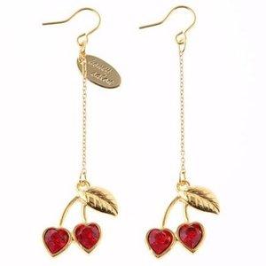 Honey Salon Honey Cherry Earrings Red