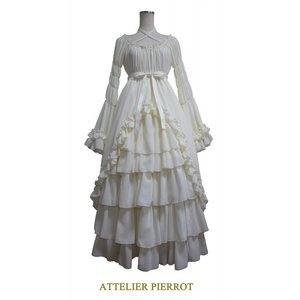 Atelier Pierrot Princess Long Sleeve Dress Ivory