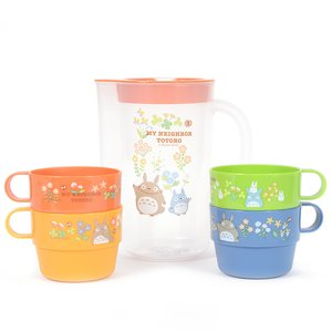 My Neighbor Totoro Totoro & Flowers Stackable Cup & Pitcher Set
