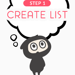 You can create multiple Favorites lists - start by deciding the theme of your list. Holiday Wishlist to share with friends? Collection of your dream kawaii items? List of figures you've acquired? Create a new list either from your Favorites page, or by adding an item to your Favorites and creating a new list from there.