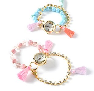Honey Salon Colorful Tassel Bracelet Watch