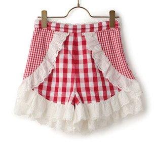 LIZ LISA Cotton Frill Shorts