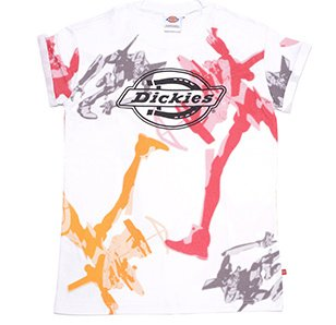 Evangelion x Dickies Unit-02 Print White T-Shirt