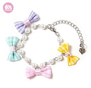 6%DOKIDOKI Tiny Ribbon Pearl Bracelet