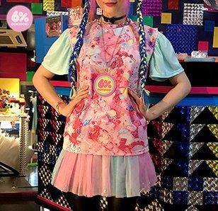 6%DOKIDOKI Clione Frill Sleeve Girls Daydream Tee