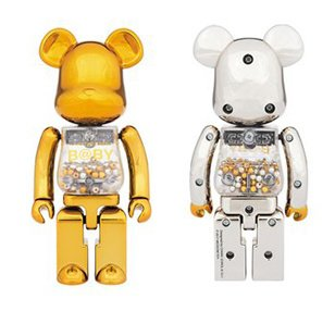 Super Alloyed My First BE@RBRICK Gold and Silver Ver.