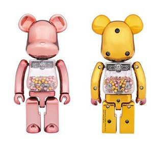 Super Alloyed My First BE@RBRICK Pink and Gold Ver.