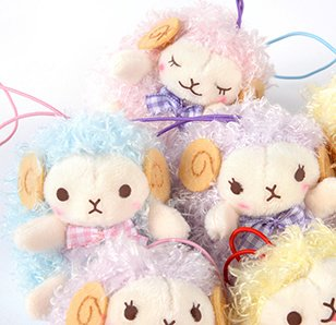 Wooly Lovely Face Sheep Plush Collection (Mini Strap)
